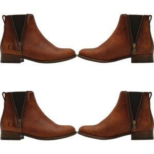 🍂🆕 Frye ✦ Sleek Chelsea Zipper Boot ✦ Cognac ✦